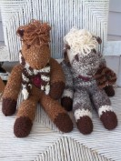 These alpaca friends are created from handspun yarns