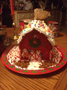 Home For The Holidays! Oh what fun it was to create a Gingerbread Barn instead!