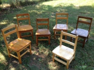 Small chairs--as individual as the children who used them!